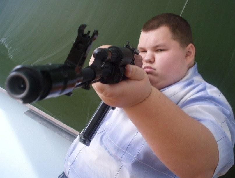 Школьник с пистолетом картинка